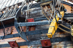 Detail of Neptune Galleon, used by Roman Polansky for the movie royalty free stock photography