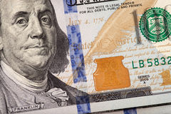 Detail of the new 100 bill Stock Photo