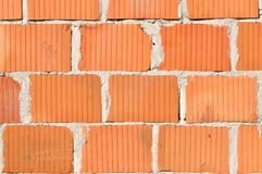 Detail of new brick wall Royalty Free Stock Photos