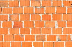 Detail of new brick wall Royalty Free Stock Images