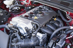 Detail of new car engine Stock Photography