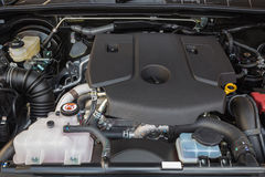 Detail of new diesel car engine Royalty Free Stock Images