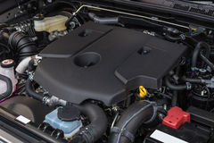 Detail of new diesel car engine Stock Photos