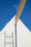 Detail new home. Detail of a  roof construction with ladder Royalty Free Stock Image