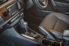 Detail of new modern car interior Royalty Free Stock Image