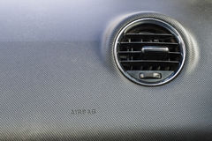 Detail of new modern car interior, Focus on heating ventilation Royalty Free Stock Image
