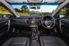Detail of new modern car interior Stock Photo