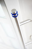 Detail of new and modern,white entrance door. 1 Royalty Free Stock Photography