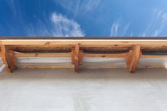 Detail of new roof on house under construction. Detail of new roof on house under construction Royalty Free Stock Images