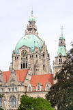 Detail of the New Town Hall in Hanover, Germany Royalty Free Stock Photo