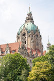 Detail of the New Town Hall in Hanover, Germany Royalty Free Stock Image
