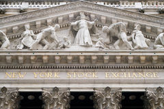 Detail of the New York Stock Exchange Royalty Free Stock Photo