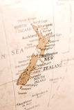 Detail of New Zealand on a Globe Royalty Free Stock Images