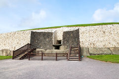 Detail of the Newgrange in the Boyne Valley Stock Images