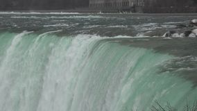 Detail of Niagara Falls in Niagara River Stock Photo
