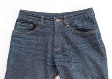 Detail of nice blue jeans Stock Image