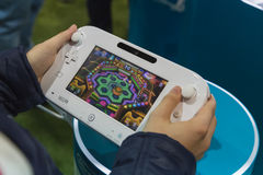 Detail of Nintendo Wii at Games Week 2014 in Milan, Italy Stock Image