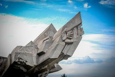 Detail of Ninth Forth, Kaunas, Lithuania. Ninth Forth, Kaunas, Memorial Monument  was designed by sculptor A. Ambraziunas Royalty Free Stock Photography