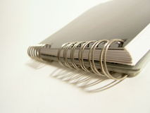 Detail of notebook spiral Royalty Free Stock Photo