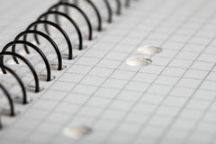 Detail of a Notepad Royalty Free Stock Photos