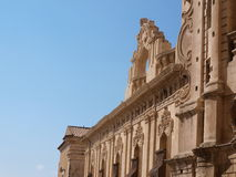 Detail of Noto baroque architecture. Photo took in Noto on Sicily royalty free stock photography