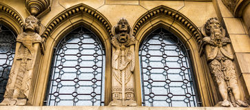 Detail of the Notre-Dame cathedral in Luxembourg Stock Image