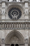 Detail of the Notre Dame cathedral in Paris, France Royalty Free Stock Photography