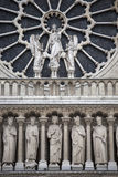 Detail of the Notre Dame cathedral in Paris, France Stock Images