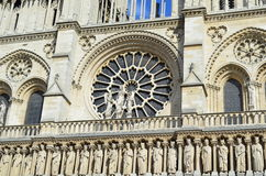 Detail of Notre Dame Cathedral - Paris, France Stock Photo