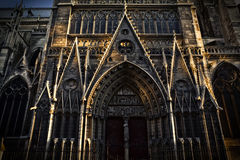 Detail of Notre Dame cathedral in Paris, France Royalty Free Stock Photo