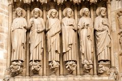 Detail from Notre Dame cathedral in Paris Royalty Free Stock Photo