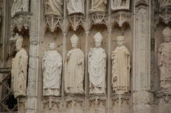 Detail of Notre Dame Cathedral in Rouen Royalty Free Stock Photo