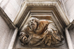 Detail of Notre Dame du Sablon. Brussels, Belgium Royalty Free Stock Image