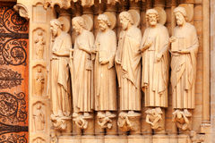 Detail of Notre Dame, Paris Stock Images