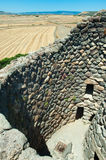 Detail of the nuraghi of Barumini in Sardinia Italy.  royalty free stock images