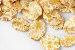 Detail of oat flakes Stock Images