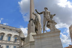 Detail of obelisk in Piazza del Quirinale in Rome Royalty Free Stock Images