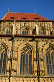 Detail of the Obere Pfarre church in Bamberg, Germany Stock Images