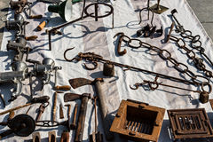 Detail objects antique market Stock Photography