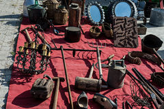 Detail objects antique market Royalty Free Stock Photos