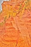 Detail of ochre quarry in Roussillion, France Stock Images