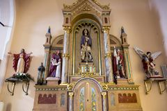 Detail od the altar. Detail of the altar in old Christian church Royalty Free Stock Photo
