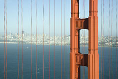 Detail od Golden Gate Bridge Stock Images
