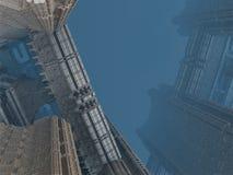 Detail od scyscraper in sci-fi (futuristic) city Stock Photography