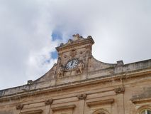 Detail Of A City Hall In Italy Stock Photo