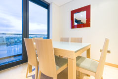 Detail Of A Modern Dining Area Stock Images