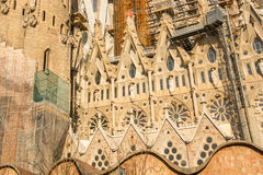 Free Detail Of A Wall La Sagrada Familia - The Impressive Cathedral Designed By Gaudi Royalty Free Stock Photo - 48476115