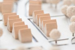 Detail Of An Architectural Model Of A Village Stock Photography