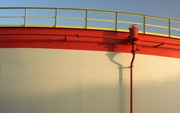 Detail Of An Oil Tank Royalty Free Stock Photo