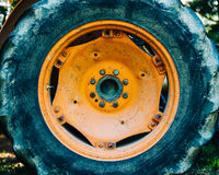 Free Detail Of An Old Tractor Wheel Stock Photo - 63272660